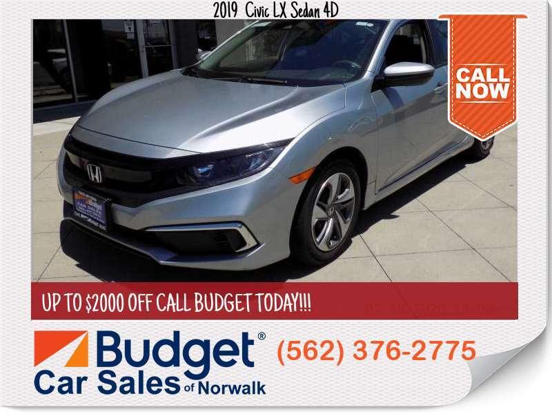 2019 Honda Civic LX Sedan 4D LX Sedan 4D for sale in Norwalk, CA - Los Angeles County
