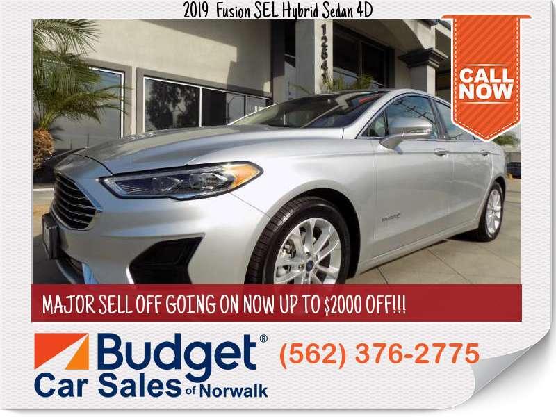 2019 Ford Fusion SEL Hybrid Sedan 4D SEL Hybrid Sedan 4D for sale in Norwalk, CA - Los Angeles County